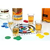ADULT DRINKING GAME TIDDLYWINKS TIDDLY WINKS 4 SHOT GLASSES + PLAYING CHIPS - STAG HEN FUN GIFT