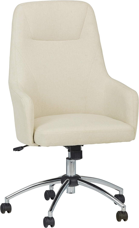 Amazon Brand – Stone & Beam Modern Upholstered High-Back Swivel Chair, 25.2