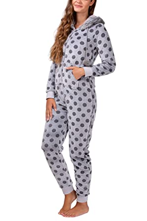 51501efb642d maluuna - Ladies Fleece Onesie with Cuffs at Wrist and Ankle ...
