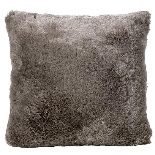 Invierno Home piel Cojín * Seal gris* Suave cojín almohada ...
