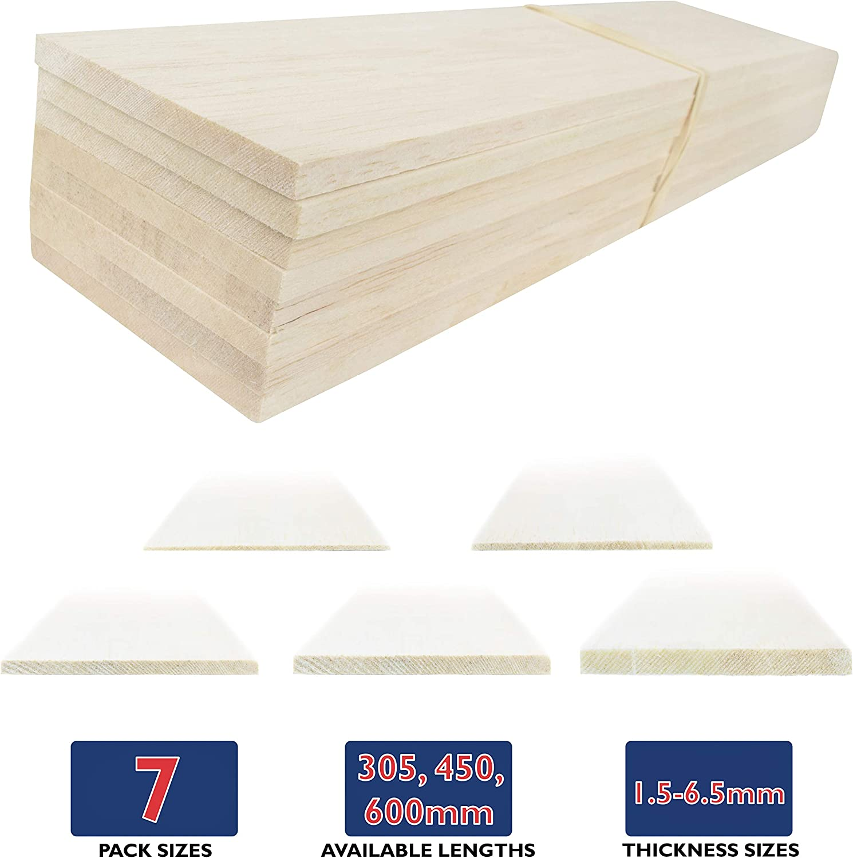 – Modelling Choose Size /& Quantity WWS Balsa Wood Sheets