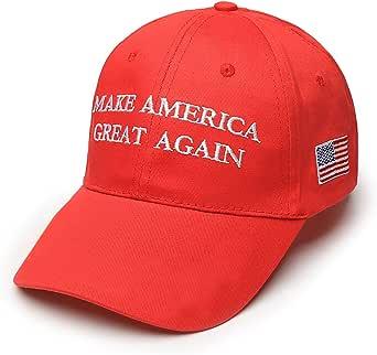 Gorra de béisbol con bandera estadounidense, unisex, producto de la campaña electoral 2016 de Donald Trump con el dicho «Make America Great Again»