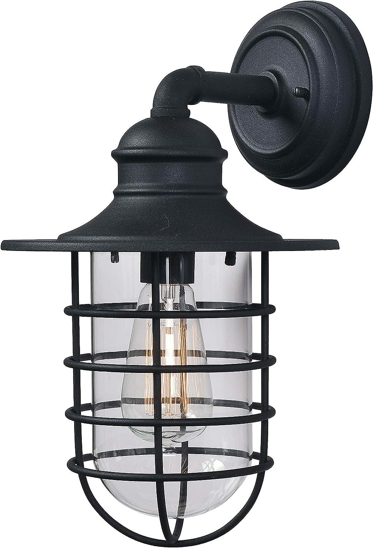 Kenroy Home 93667BL Eli Lanterns, 1 Light Large, Sandy Black