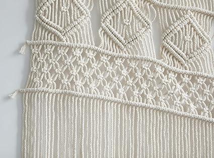 Amazon.com: Cortinas de macramé para colgar en la pared con ...