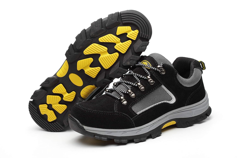 Aizeroth-UK Uomo Donna S3 Scarpe da Lavoro Comodissime Traspiranti Scarpe  antinfortunistiche con Punta in Acciaio Stival Calzature da cantiere  escursionismo ... e05a91a3a94