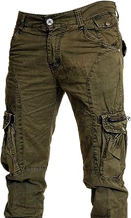 Ran69 Pantalon Treillis Slim Cargo Man Neuf
