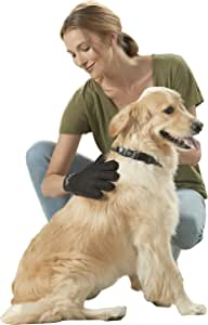 Franklin Pet Supply Shed-Master – Pet Grooming Gloves Gentle De-Shedding – Hair Remover – Dogs & Cats – Long & Short Hair – Furniture Pet Hair Remover