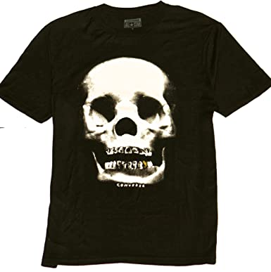 ba7516aa0cc Amazon.com  Converse Skull Gold Tooth Men s TEE Fashion T Shirt (M ...