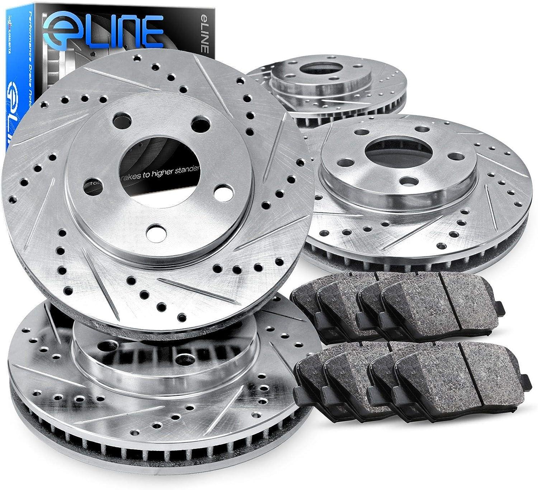 2007 Fits Infiniti G35 Non Sport pkg OE Replacement Rotors w//Ceramic Pads F+R