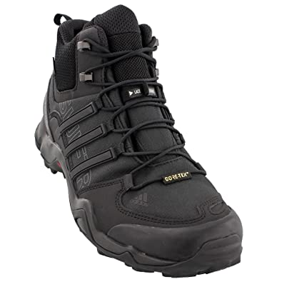 new style a75c4 4aec2 Amazon.com   adidas outdoor Men s Terrex Swift R Mid GTX Black Black Dark  Grey 9 D US   Hiking Boots