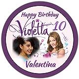 Flo. It. Violetta 002 Disque en pâte à sucre pour gâteau