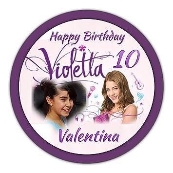 Tortenaufleger Violetta + Foto