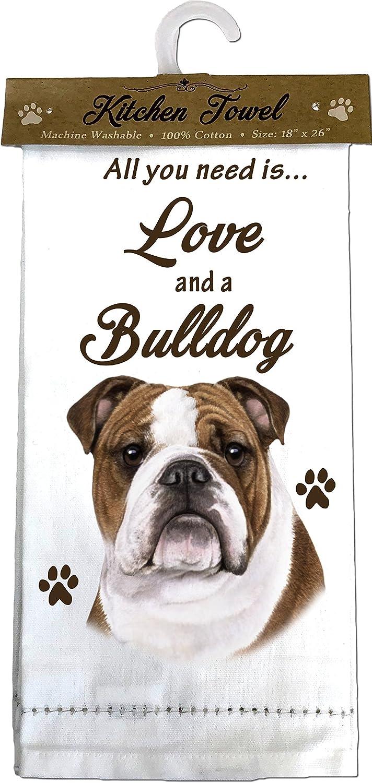 Amazon Com E S Pets Bulldog Kitchen Towels Off White Kitchen Dining