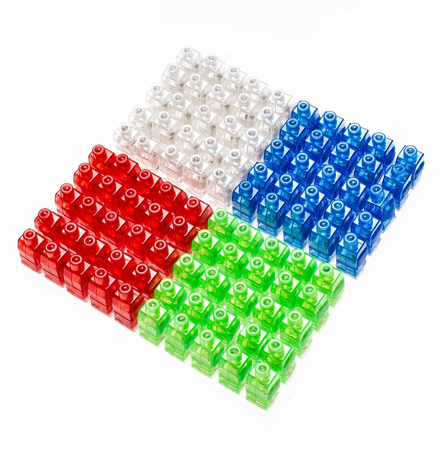 Etekcity LED Finger Lights 100 Pack Bright Party Favors Party Supplies for Holiday Light up Toys Assorted Color