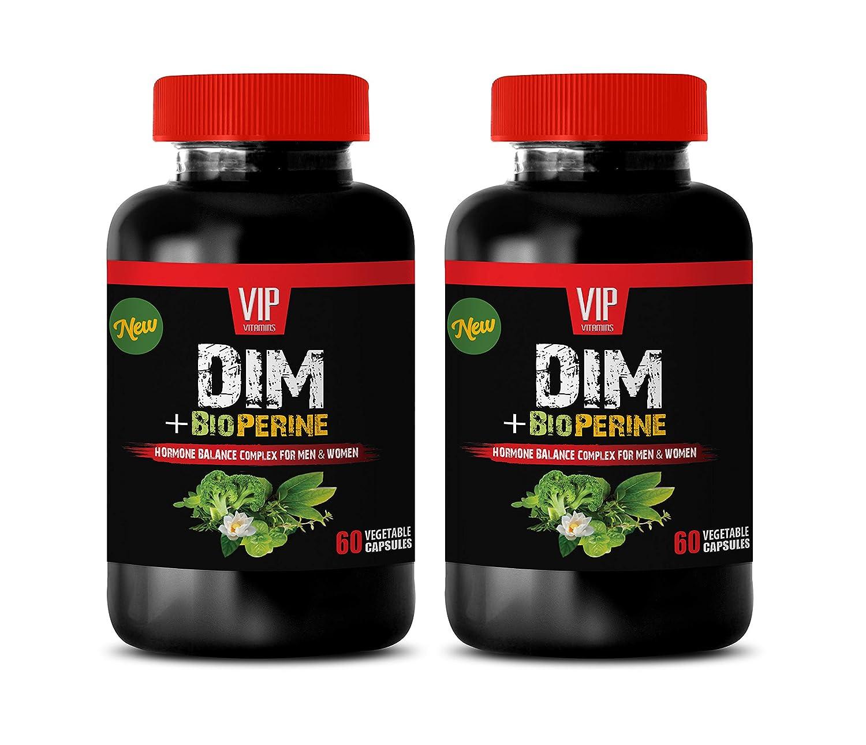 Immune System Vitamins for Men - DIM Plus BIOPERINE Complex for Men and Women - dim Estrogen Metabolism Supplement - 2 Bottles 120 Capsules
