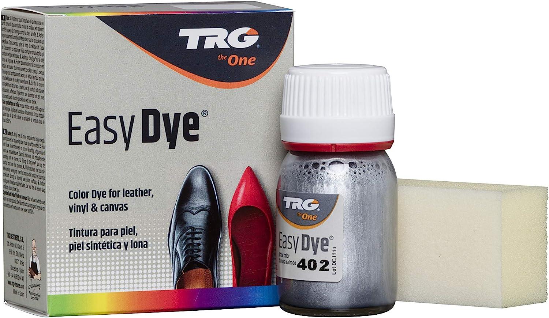 TRG The One - Tinte para Calzado y Complementos de Piel   Tintura para zapatos de Piel, Lona y Piel Sintética con Esponja aplicadora   Easy dye #402 ...