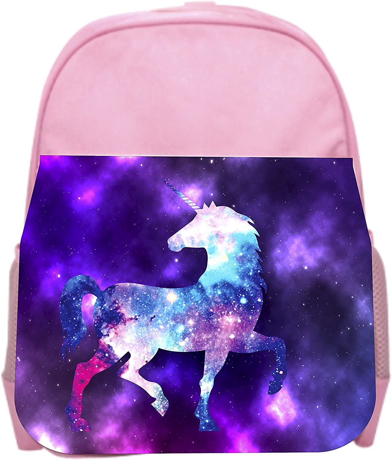 Galactic Unicorn Pink Girls Preschool Toddler Backpack /& Lunch Box Set
