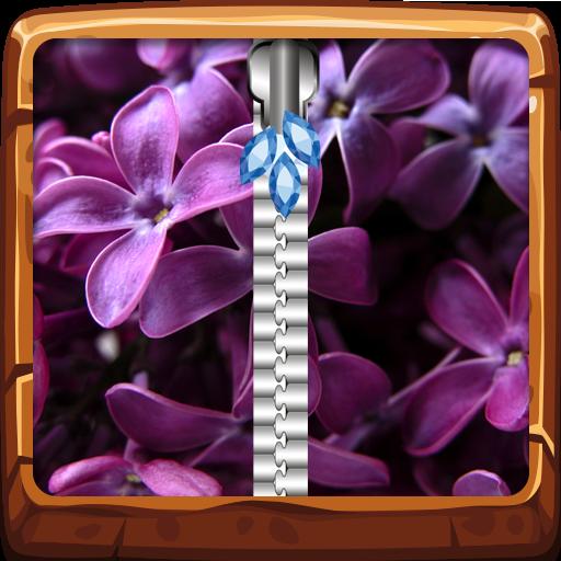 Lilac Zipper Lock Screen