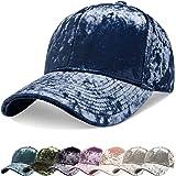 zowya Spring Velvet Baseball Cap for Women Men Crushed Plain Dad Hat Sports Cap Polo Hip Hop Hats Unstructured 1 Hat
