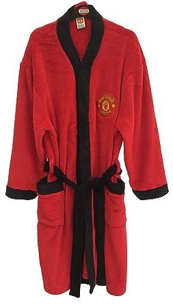 Jim Jams Direct Mens Manchester United Football Club Soft Fleece Dressing Gown  Bath Robe (Large d6b8b877e