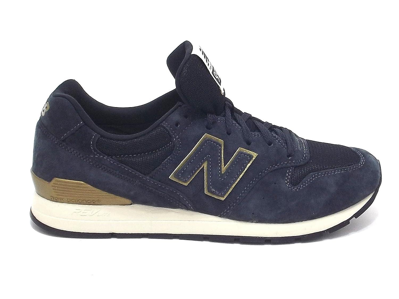New Balance scarpe uomo, MRL 996 HB, sneakers in nabuk e tessuto, colore blu