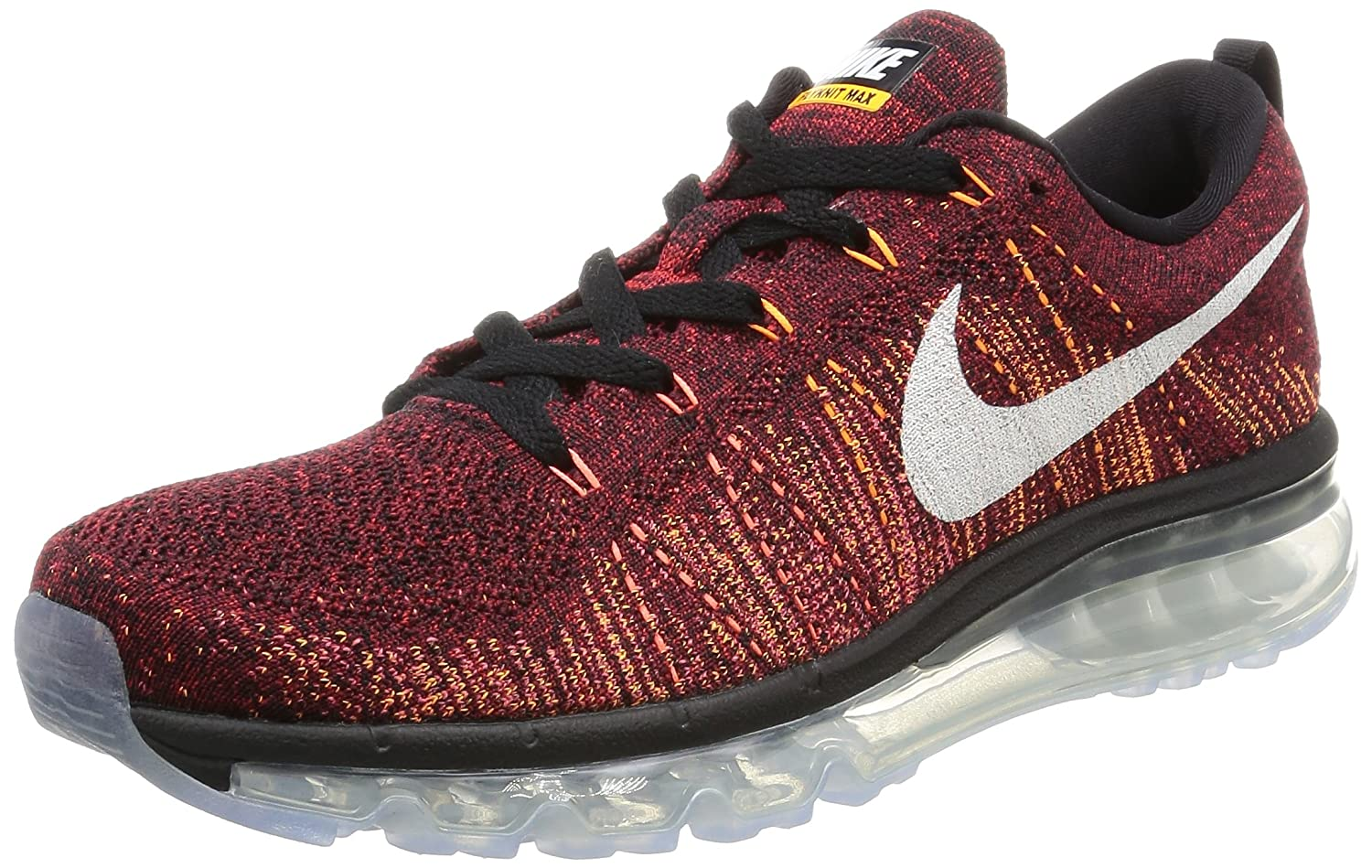 finest selection d984c 1c27e Amazon.com | Nike Flyknit Air Max 620469-011 Black/Red/White/Ember Glow  Men's Running Shoes (Size 11) | Road Running