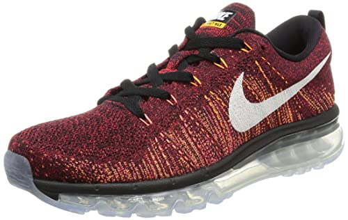 the latest a7d7b ee246 Nike Flyknit Air Max 620469-011 Black Red White Ember Glow Men s