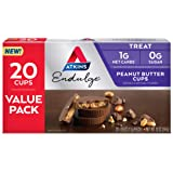 Atkins Endulge Treat Peanut Butter Cups. Rich Milk Chocolate Flavored Cup & Creamy Peanut Butter. Keto-Friendly. Value Pack (