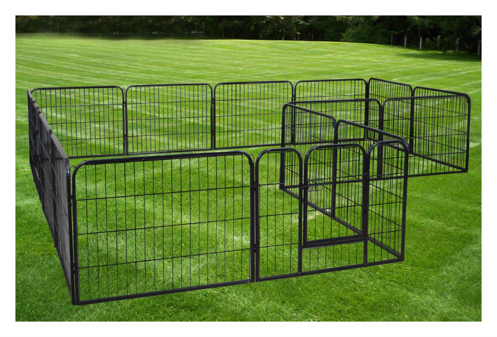 Large 16 Panels Pet Dog Cat Metal Exercise Barrier Fence Playpen Kennel Yard New Top Selling Item by Unbranded* (Image #1)