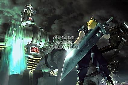 Final Fantasy Cgc Huge Poster Vii Cloud Vs Sephiroth Playstation Ps1 Psp Fvii010 16 X 24