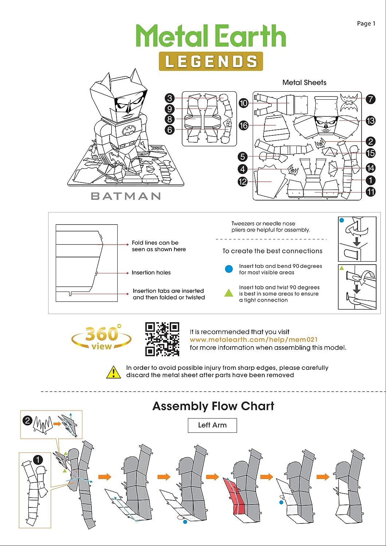 Fascinations Metal Earth Dc Justice League Legends 3d 360 Degree Feedback Report Spider Diagram Model Kits Set Of 7 Wonder Woman Superman Green Lantern Flash Batman