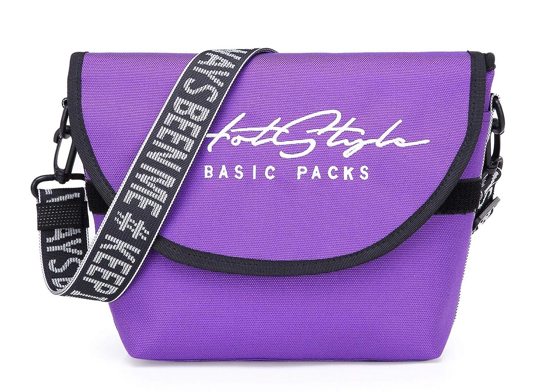 Black iR543s 1990s Style Small Vintage Messenger Bag
