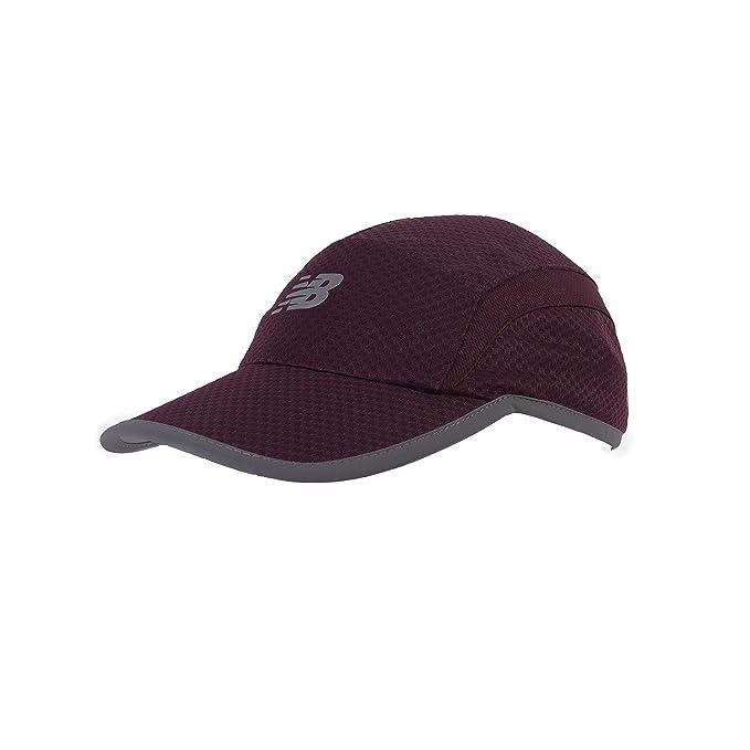 7c87b3b9a40067 Amazon.com: New Balance 5 Panel Performance Hat, Nb Burgundy, One Size:  Clothing