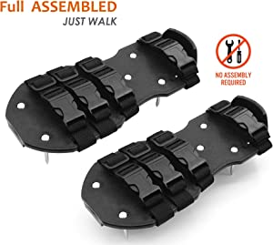 Osaava 47952 Spiked Shoes For Epoxy Floor Coating Installation 3/4-Inch Replacement spikes Polypropylene Shoes, Adjustable 8 straps Full ASSEMBLED Sturdy Universal Size that Fits all