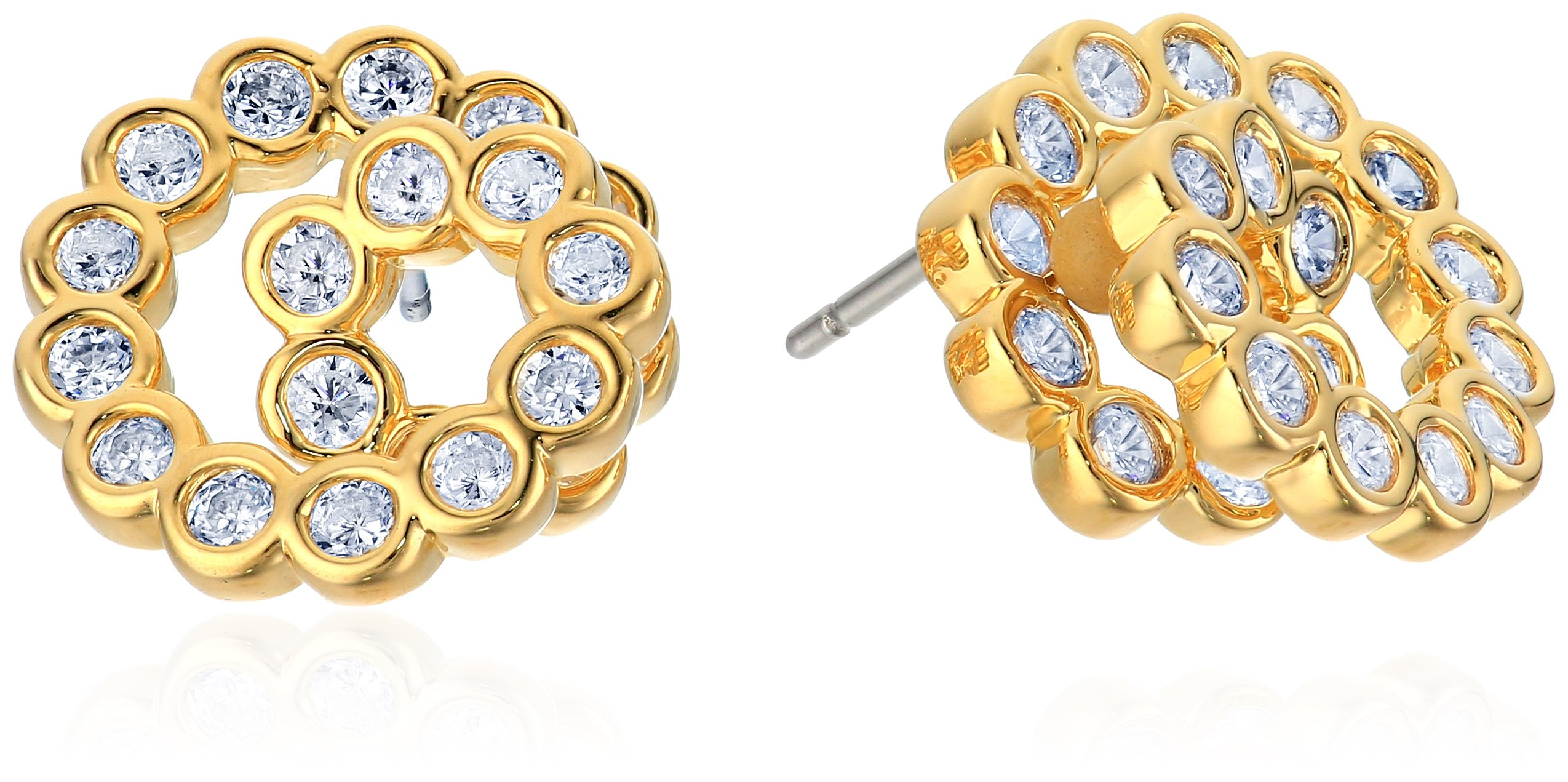 kate spade new york Glitz and Glam Spiral Gold Stud Earrings