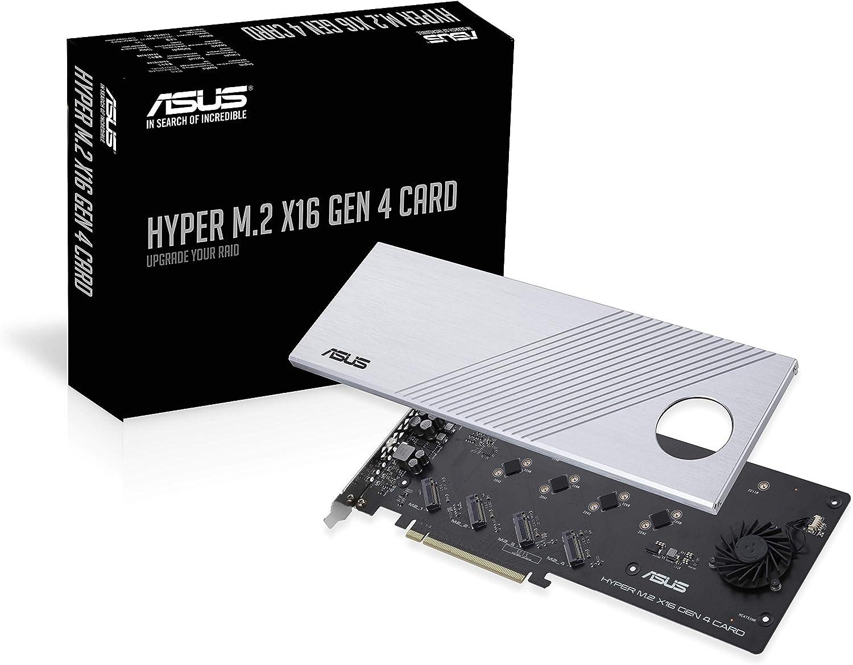 Asus Hyper M 2 X16 Gen 4 Unterstützt 4x Nvme M 2 Computer Zubehör