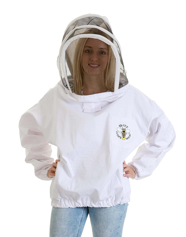Tunique Buzz Basic Blanc avec Voile d'Escrime Taille: 2XL Simon The Beekeeper