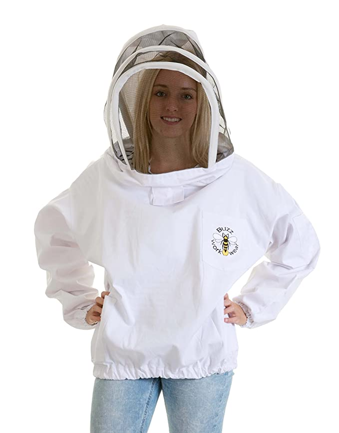 Cappuccino with fencing hood EXTRA LARGE simonthebeekeeper Beekeepers BEE JACKET