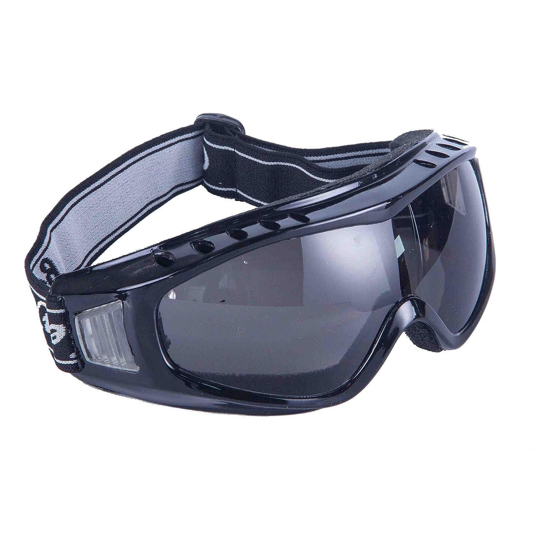 Babimax Outdoor Cool UV protection Anti-fog Anti-dust Safety Goggles Protective Glasses Eyewear Eye Welding Protection Dark Black JYD-001