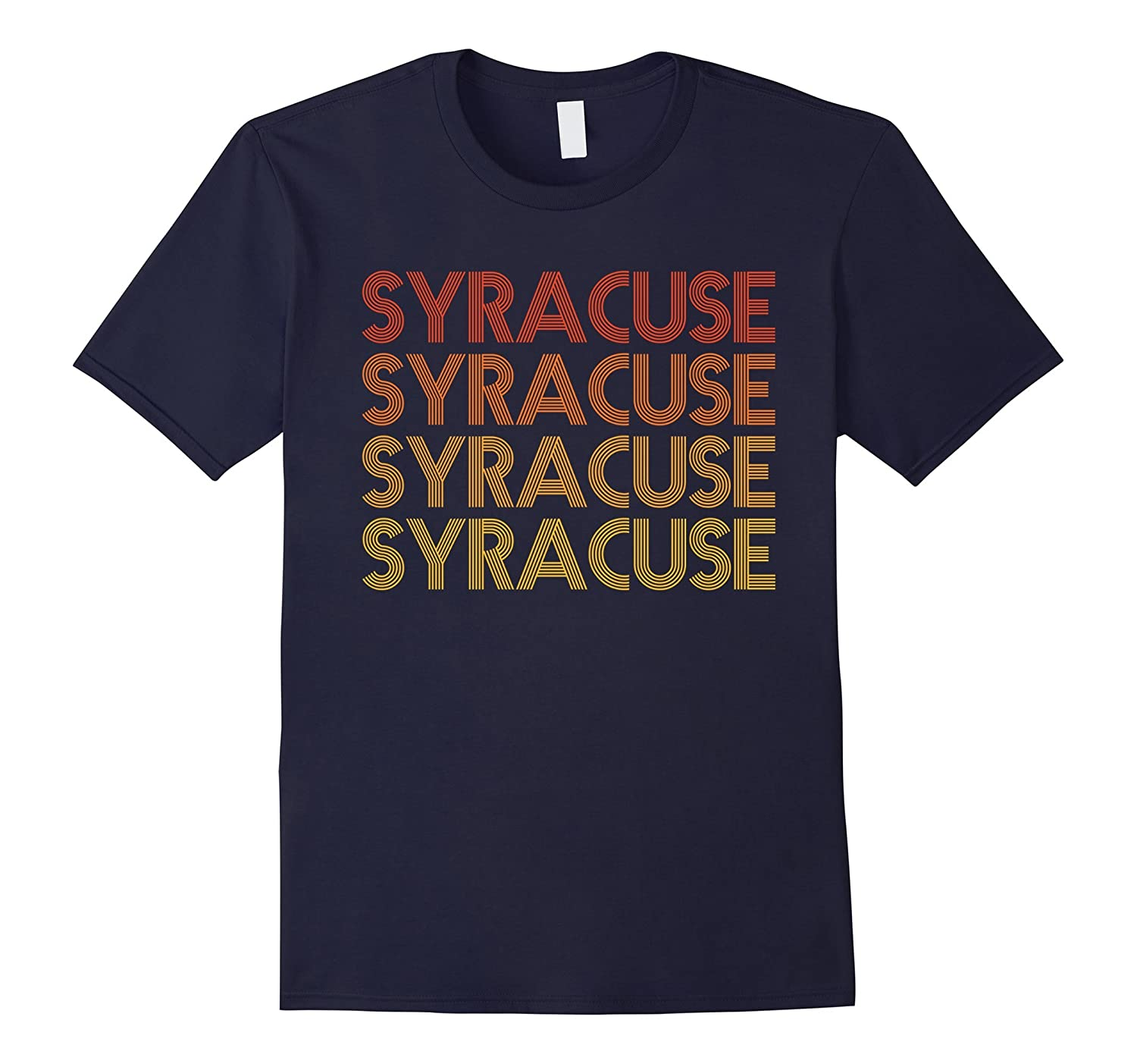 Syracuse New York - Retro Vintage T Shirt-TD
