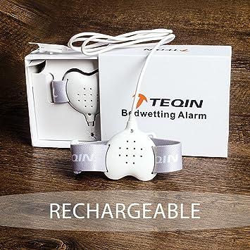 TEQIN Alarma con Todas las Funciones para Niños, Sensor de Alarma de Eneuresis de Última Generación con Sonido y Vibración, para Aprendizaje del Uso ...