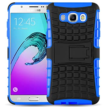 JAMMYLIZARD Funda Galaxy J7 2016, Carcasa Militar Alta Resistencia [ Alligator ] Heavy Duty Case Back Cover para Samsung Galaxy J7 2016, Azul