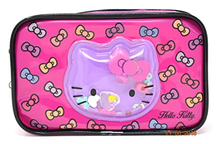 894f745b568 Image Unavailable. Image not available for. Color  SANRIO Hello Kitty  Plastic Cosmetic Bag for Kids
