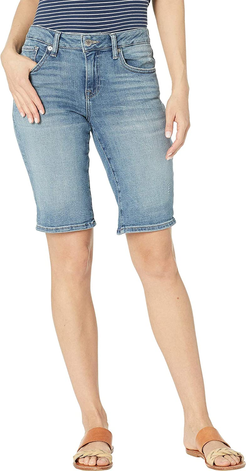 Lucky Brand Womens Plus Size Mid Rise Ginger Bermuda Short