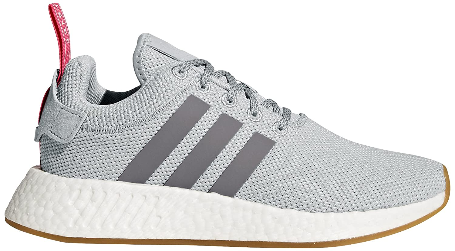 adidas Originals Women's NMD_r2 W Sneaker B06XPM96J5 5.5 B(M) US|Grey Two/Grey Three/Shock Pink