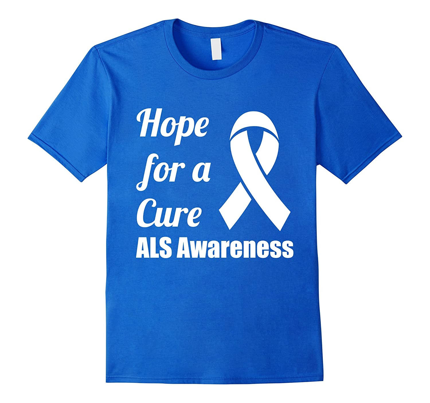 Hope for a Cure ALS Awareness Ribbon T-Shirt-PL