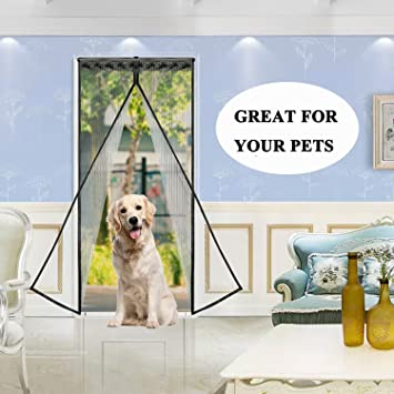 Magnetic Screen Door For Keeping Bugs Out Kids And Pet Friendly