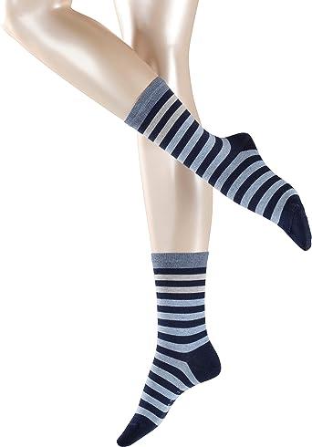 Esprit Socken Multicolour Stripe Baumwolle Damen Schwarz Weiß Viele Weitere Farben Verstärkte Damensocken Mit Muster Atmungsaktiv Gestreift Bunt Dünn 1 Paar Bekleidung