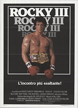 1982 Sylvester Stallone movie poster print Rocky III