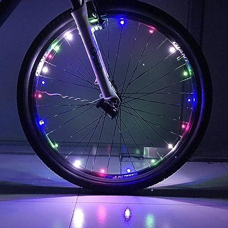 NAFA - Tira de luz LED Impermeable para Rueda de Bicicleta, luz de ...